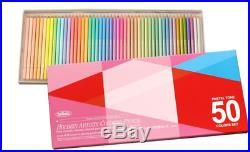 Holbein Pastel 50 Colors Set Paper Box OP936 Awesome Pencils