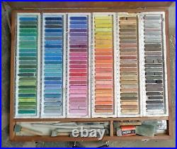 Holbein Semi-soft Pastels, Set of 144 in Wood Box