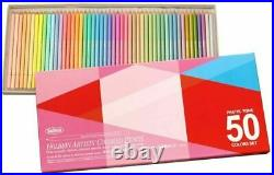 Holbein artist colored pencils pastel set 50 colors with Paper Box NEW