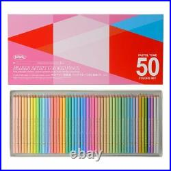Holbein oil-based Colored Pencil Pastel Tone Set in Paper-box OP936, 50 Colors