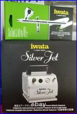 IWATA SILVER JET AIRBRUSH COMPRESSOR + IWATA NEO AIRBRUSH KIT. New, Boxed