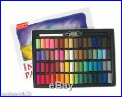 Inscribe Artists Soft Pastels 64 Half Stick Box Set Assorted Colours Art Set
