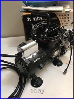 Iwata Studio Series Smart Jet Airbrush Compressor With Hose, Gauge, Box Very Nice