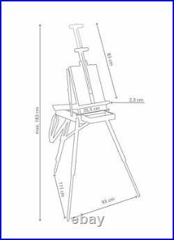 JULLIAN Professional Artist FULL VINTAGE Oak Wood Sketching Box Easel JB45V
