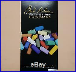 Jack Richeson 36 Assorted Handmade Soft Pastels In A Wooden Box