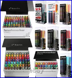 KARIN Brushmarker PRO Sets of 12, Mini Box of 26, Mega Box of 60, Mega Box of 72