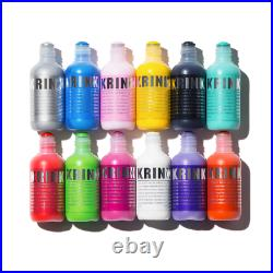 KRINK K-60 MARKERS BOX SET 12x HIGH QUALITY PAINT MOPS MIXED COLOURS