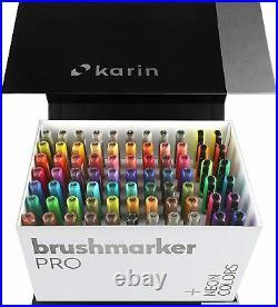 Karin Mega Box Plus 72 Colors + 3 Blender Pens Brush Marker Pro Watercolor 27C13