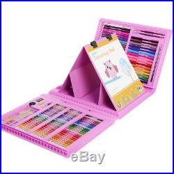 Kids 172Pcs Art Set Colorful Sketching Drawing Art Box Oil Pastels Crayon Girls