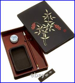 Kuretake Japanese writing box Calligraphy set Sash Inkstone KB710-900SET Sky NEW