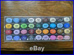 LIMITED EDITION COPIC 25th ANNIVERSARY SKETCH SET 36 PENS MARKERS + Storage Box