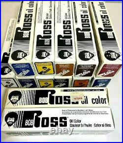 LOT of 13 Bob Ross Oil Color 5 oz Tubes Titanium White, Prussian Blue NEW in Box