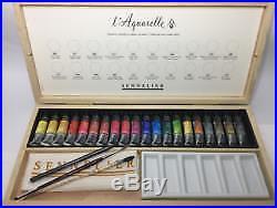 L'Aquarelle Sennelier French Artists Watercolour Wooden Box Set