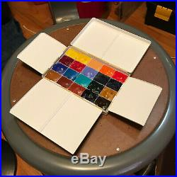 Little Brass Box Custom Roberson Brass Watercolor Paint Box with Daniel Smith