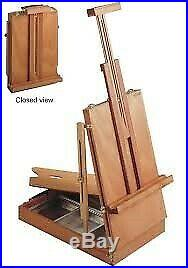 MABEF M24 Sketch Box Table Easel Oiled Beechwood
