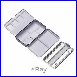 Metal Travel Tin Box Empty Full or Half Pans for Watercolor Paints
