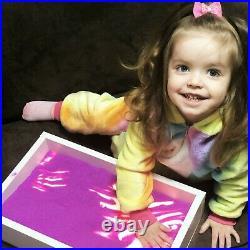 Mini Light table for sand drawing, sensory box, LED light box, sandbox