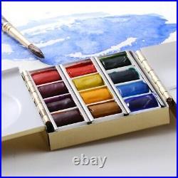 Mini Plein Air Artist Brass Watercolor Gouache Travel Paint Box Paintbox Palette