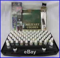 Model Color Military Range Box Set 72 colours + 3 brushes + car- VAL70173