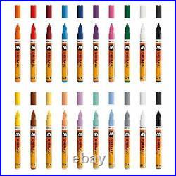 Molotow MO200152 Acrylic Marker One4All 127HS, Pencil Box Main-Kit 1.2 mm, 20 Ma