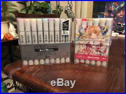 NEW Copic Sketch Markers Basic Colors and CLAMP Selection BOX SET 60 MARKERS