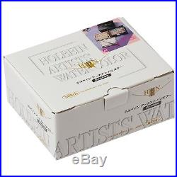 NEW Holbein Artists' Pan 48 Colors Set Cube Box Brush PN699