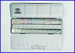 NEW SCHMINCKE Watercolors Metal Box Set of 12 Half Pans 74412097 FREE SHIPPING