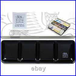 New Winsor & Newton Professional Watercolour Metal Sketchers Box 24 Half Pans