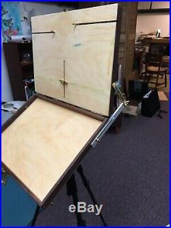 Open Box M Lightweight kit Pochade Plein Air Easel Palette & Wet Storage 12x16