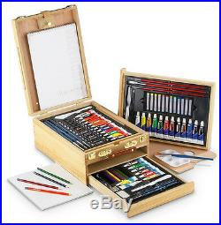 Painting Drawing Box Chest Deluxe Art Crafts Tools Supplies 104 Piece Artist Set