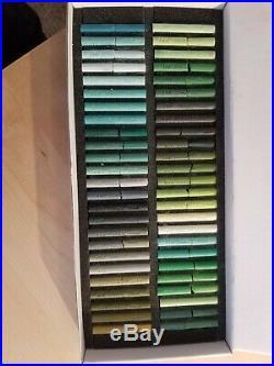 Pastels Girault France 1780 Boxed Set 50 Green Shades