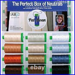 Pat Sloan The Perfect Box of Neutrals Aurifil Thread Kit 12 Large Spools 40