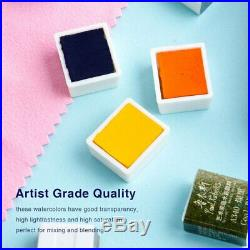 Paul Rubens 48 Colors Professional Solid Watercolor Paint With Iron Box Bright