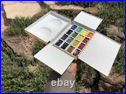 Plein Air Artist Brass Watercolor Gouache Travel Paint Box Paintbox Palette NEW