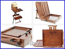 Plein Air Artist Pochade Easel Maximum Canvas Plate Tripod Supply Box Large