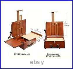 Pochade Box, The Ultimate Lightweight Travel French Easel for Plein Air Painting
