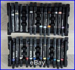 Prismacolor Premier Double Tip Chisel / Fine 156 Art Markers Box Set