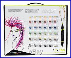Prismacolor double tip Brush/Fine 156 Marker Box Set- alcohol-based artist color