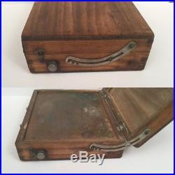 RARE Antique Winsor & Newton -Wooden Pochade Plein Air Artist Painters Box