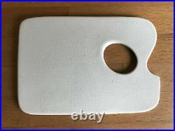 RARE Artists Mini Palette for Portable Paint Box Ceramic, thumb hole 4x3