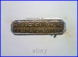 Rare Antique C ROBERSON & Co Large Watercolour Paintbox Palette. Artists Box
