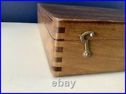 Rare LUKAS SCHOENFELD Dovetailed Artists Box With Content Oils Etc. C1943-1945