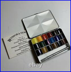 Rare Winsor Newton Watercolor Travel Bijou Box