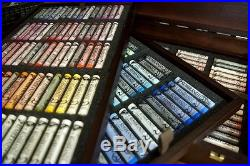 Rembrandt Artists Full Size Soft Pastels Wooden Box Set 225 Assorted