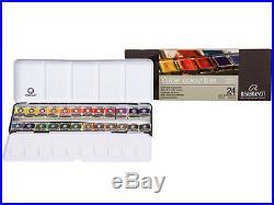 Rembrandt Artists Quality Watercolour Metal Box Set 24 Half Pans