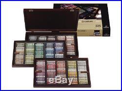 Rembrandt Artists Soft Pastels Full Size Pastel Wooden Box Set 225 Assorted