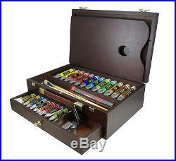 Rembrandt Fine Artists Quality Oil Colour Paint Wooden Box Master Set