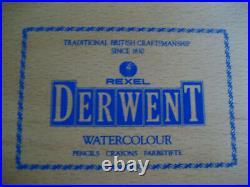 Rexel Derwent Watercolor Pencils Wooden Box 72
