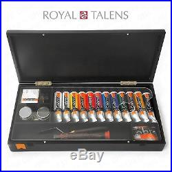 Royal Talens Oil Art Set in Premium Black Gift Box 12 Paints
