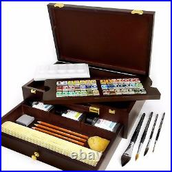 Royal Talens Rembrandt Box Master Edition Watercolour Art Set in Wooden Chest
